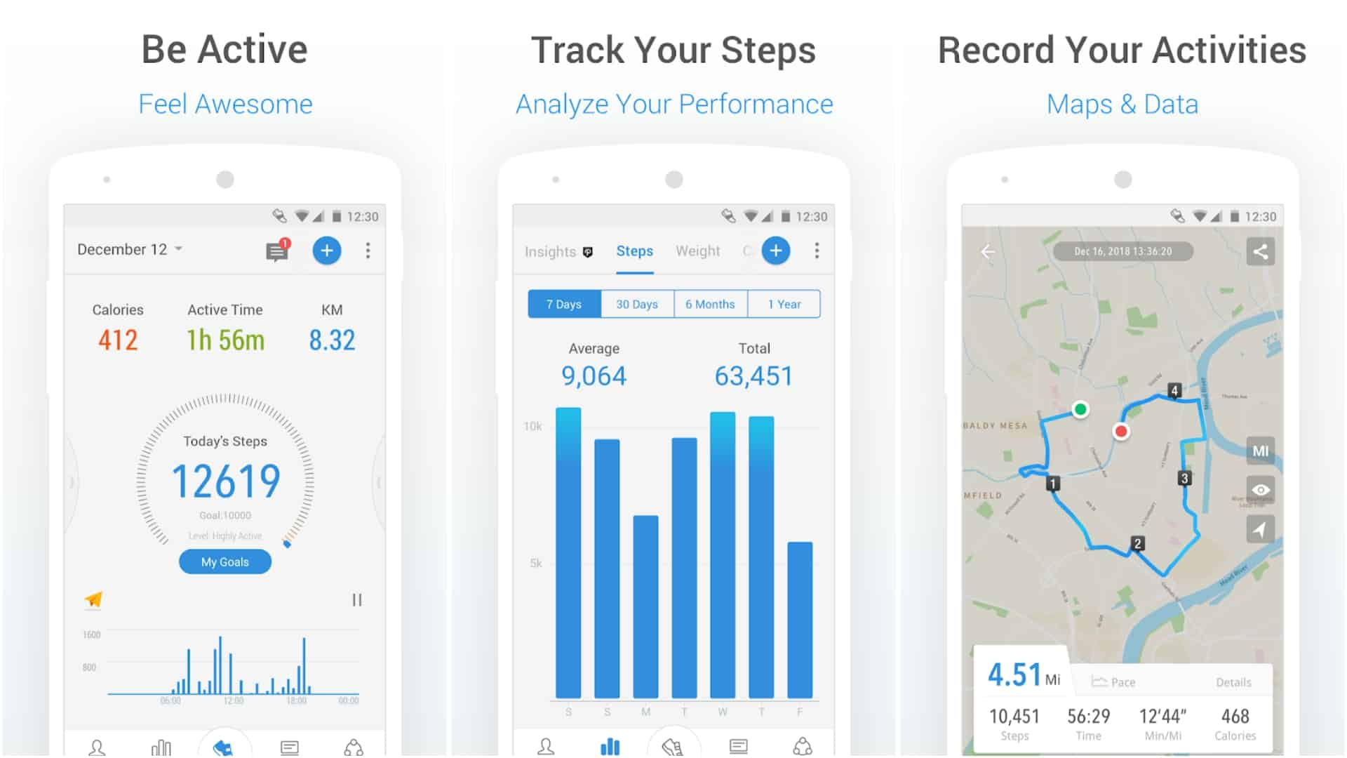 Walking Running Pedometer for Health Weight app image April 2020