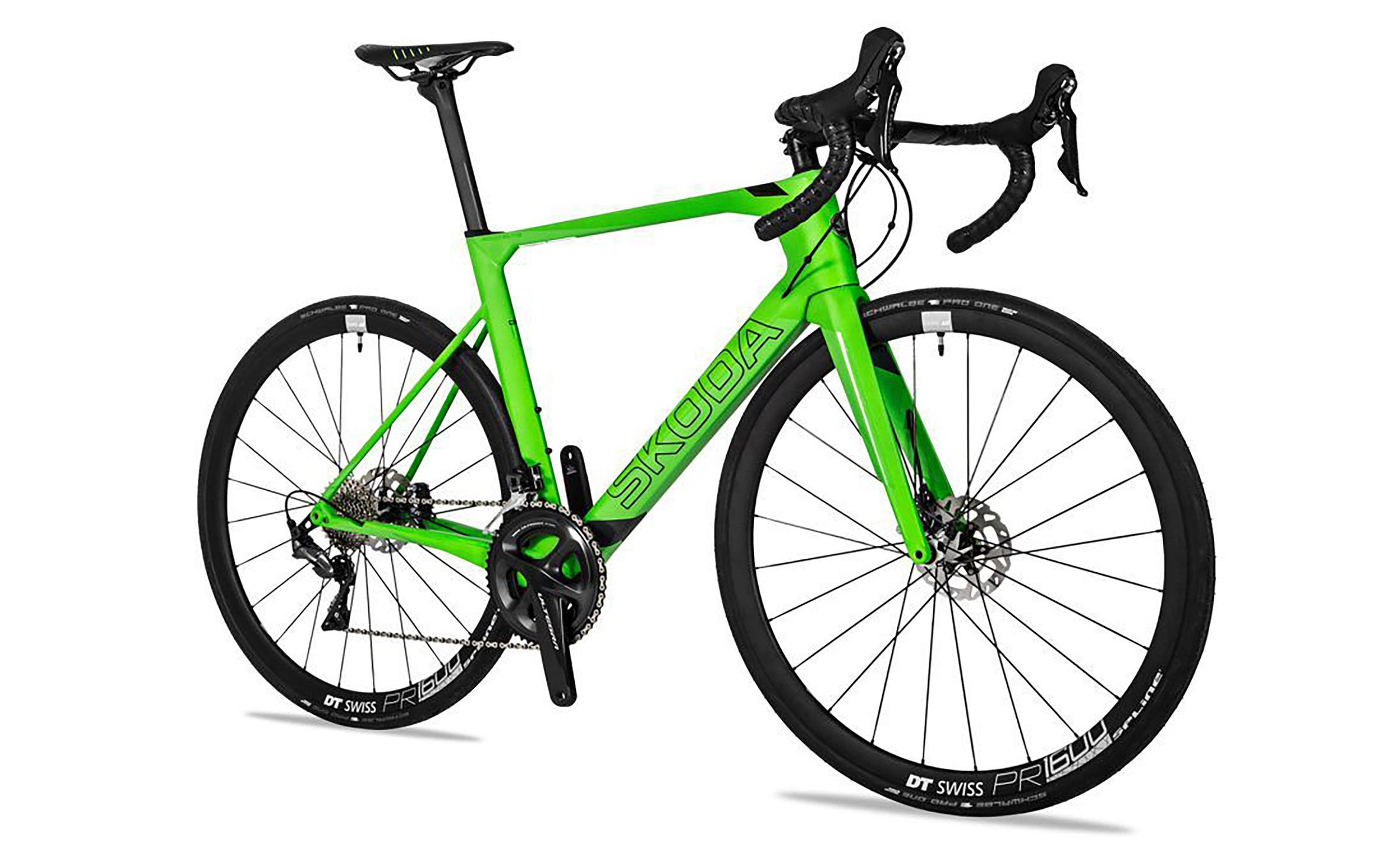 Skoda started making bicycles 125 years ago and basically, this is the nuts. Full carbon frame, forks and handlebars with aero geometry. Shimano Ultegra gearing, hydraulic brakes, DT Swiss wheels. Size L