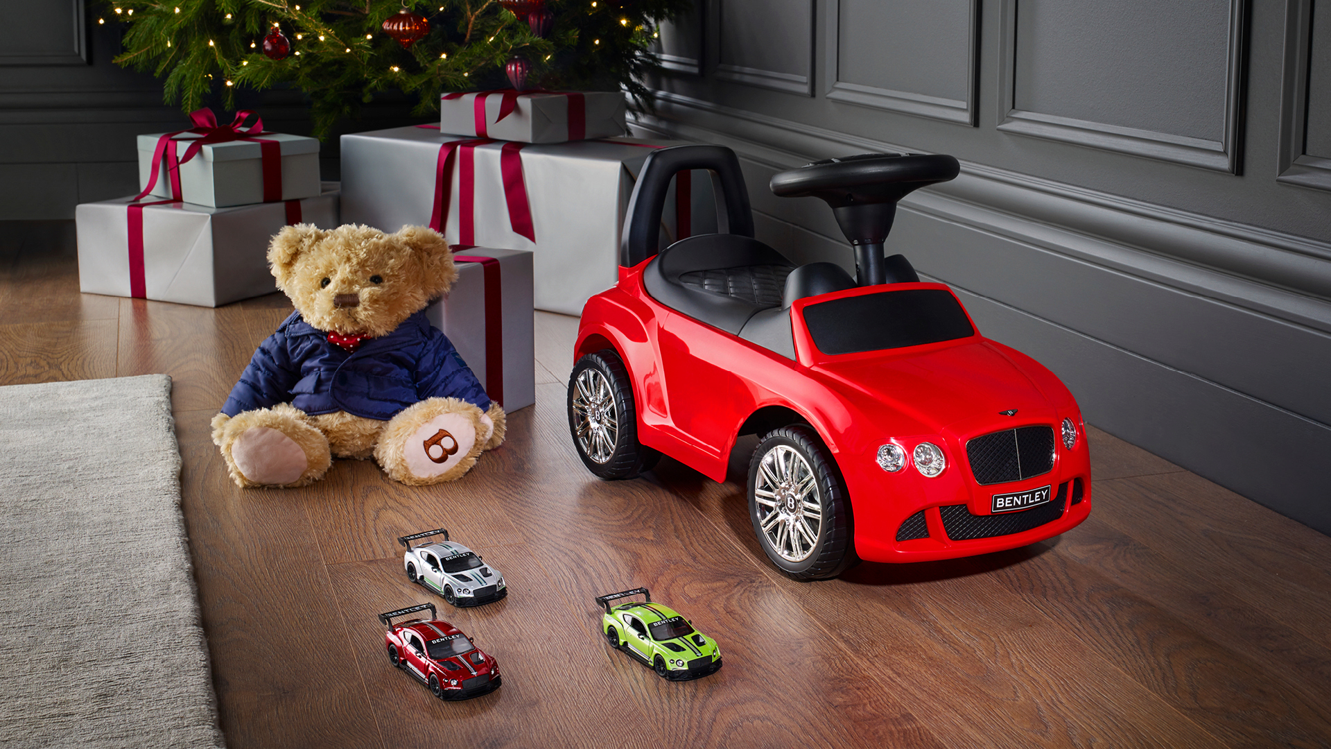 For Bentley boys (and girls) aged two to six. Inspired by the Continental GT. Even plays music from the stereo. Class. Go to shop.bentleymotors.com