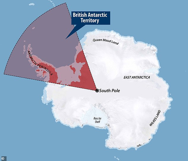 The locations are withing British Antarctic Territory (BAT) - one of the UK's 14 British Overseas Territories
