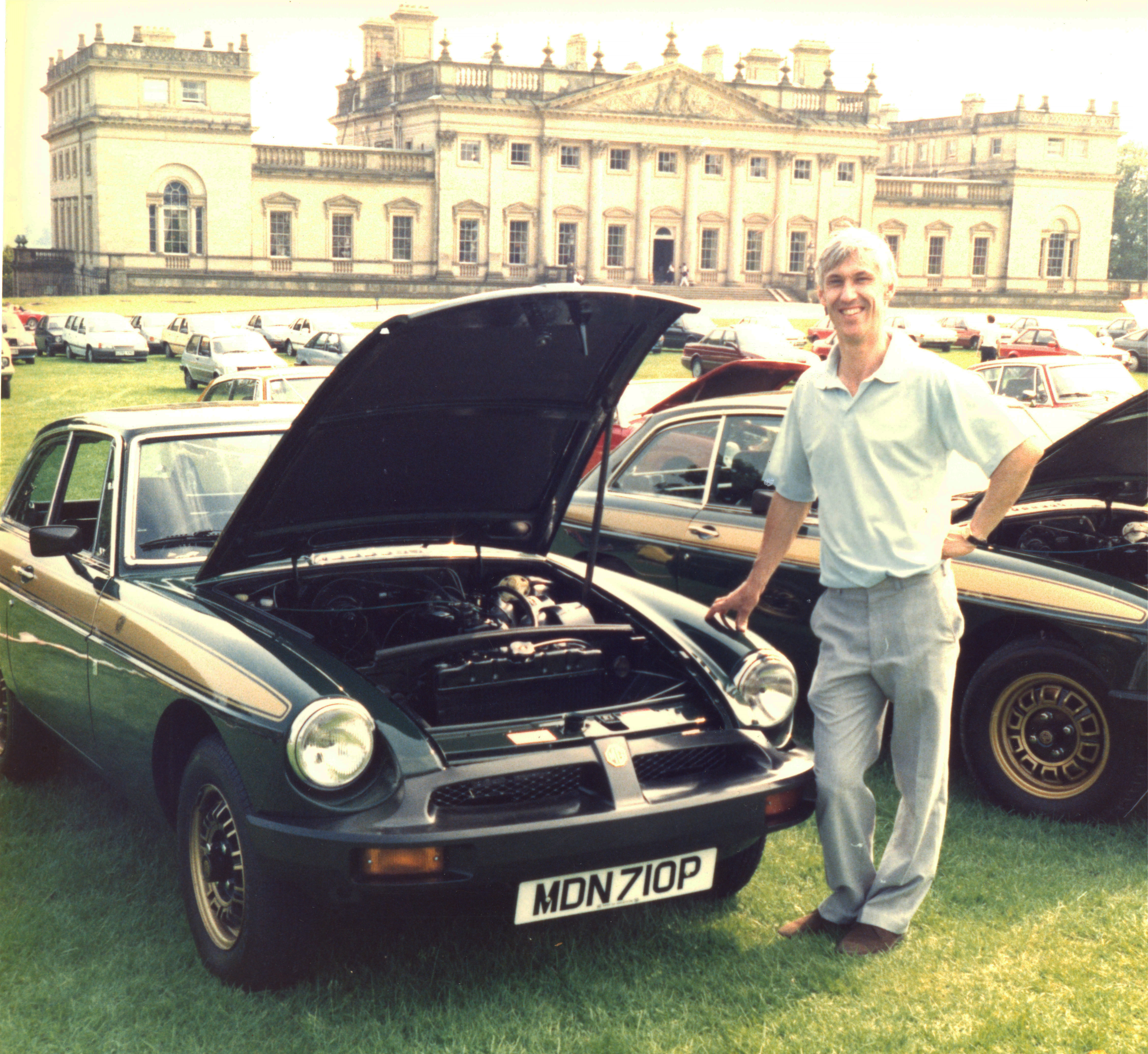 Steve lovingly restored the 1975 motor and took it to car shows all over the country