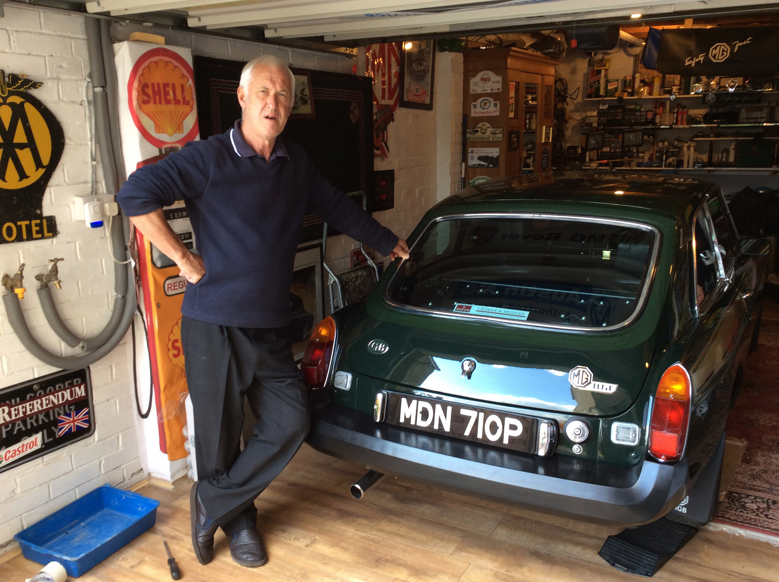 Steve says it was 'very emotional' reuniting with his car
