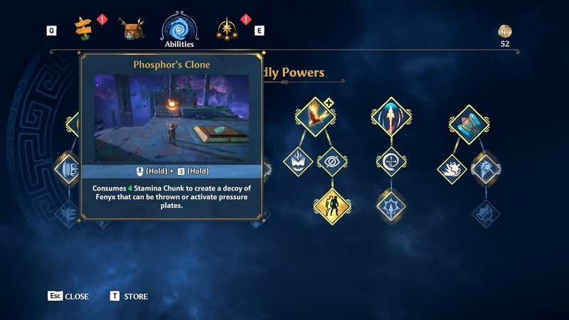Immortal Fenyx Rising Godpower Upgrades