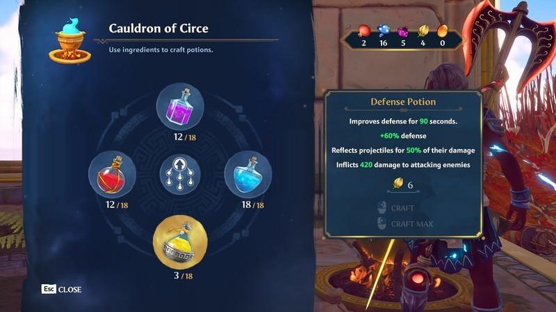 Immortals Fenyx Rising Potions