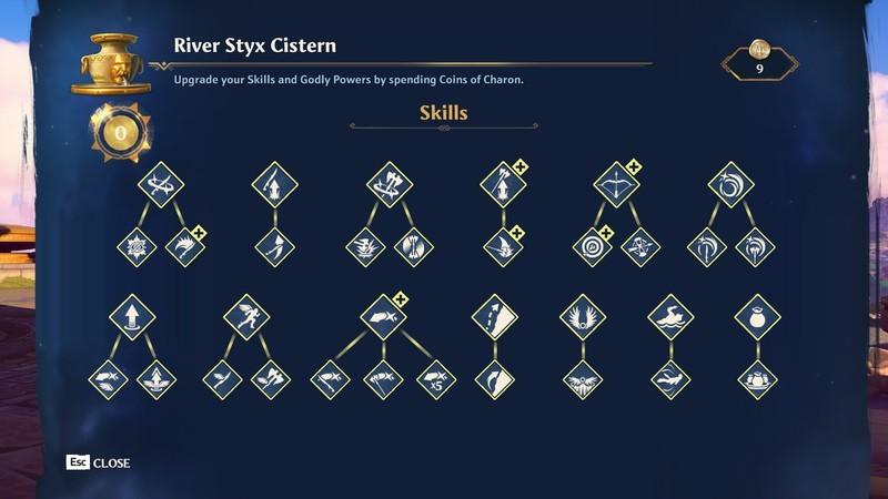 Immortals Fenyx Rising Skills Upgrades