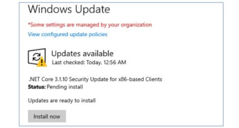 Net Core updates