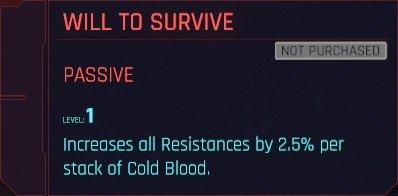 Cyberpunk 2077 Cold Blood Perks Details
