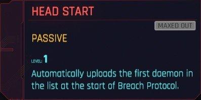 Cyberpunk 2077 Breach Protocol Perks Details
