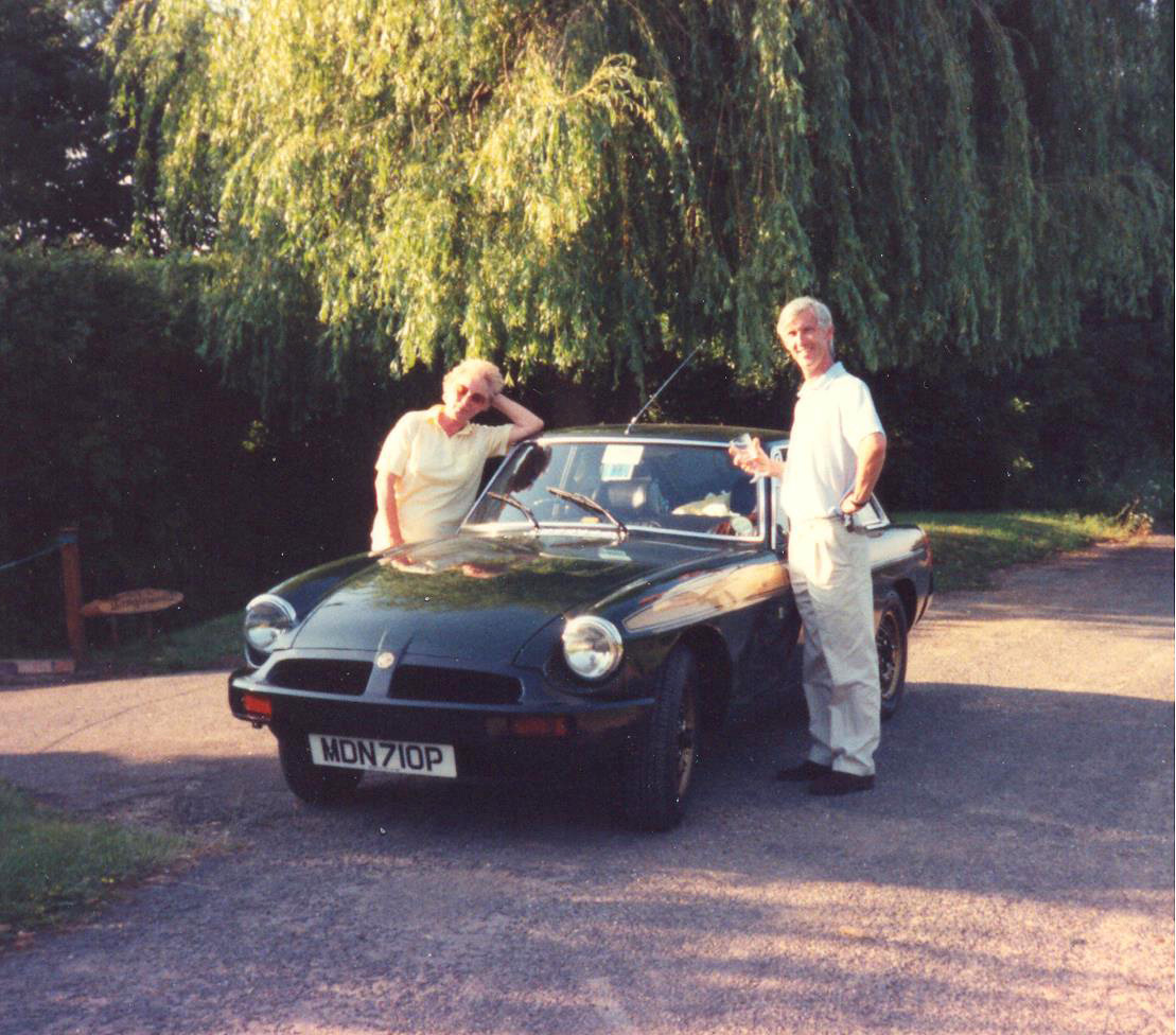 Steve Ellams, pictured with wife Jackie in 1991, thought he'd never see his MG again after exchanging it