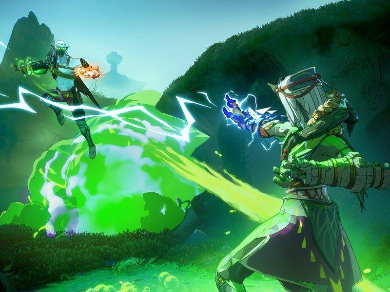 Spellbreak Lightning Bogmore Battle