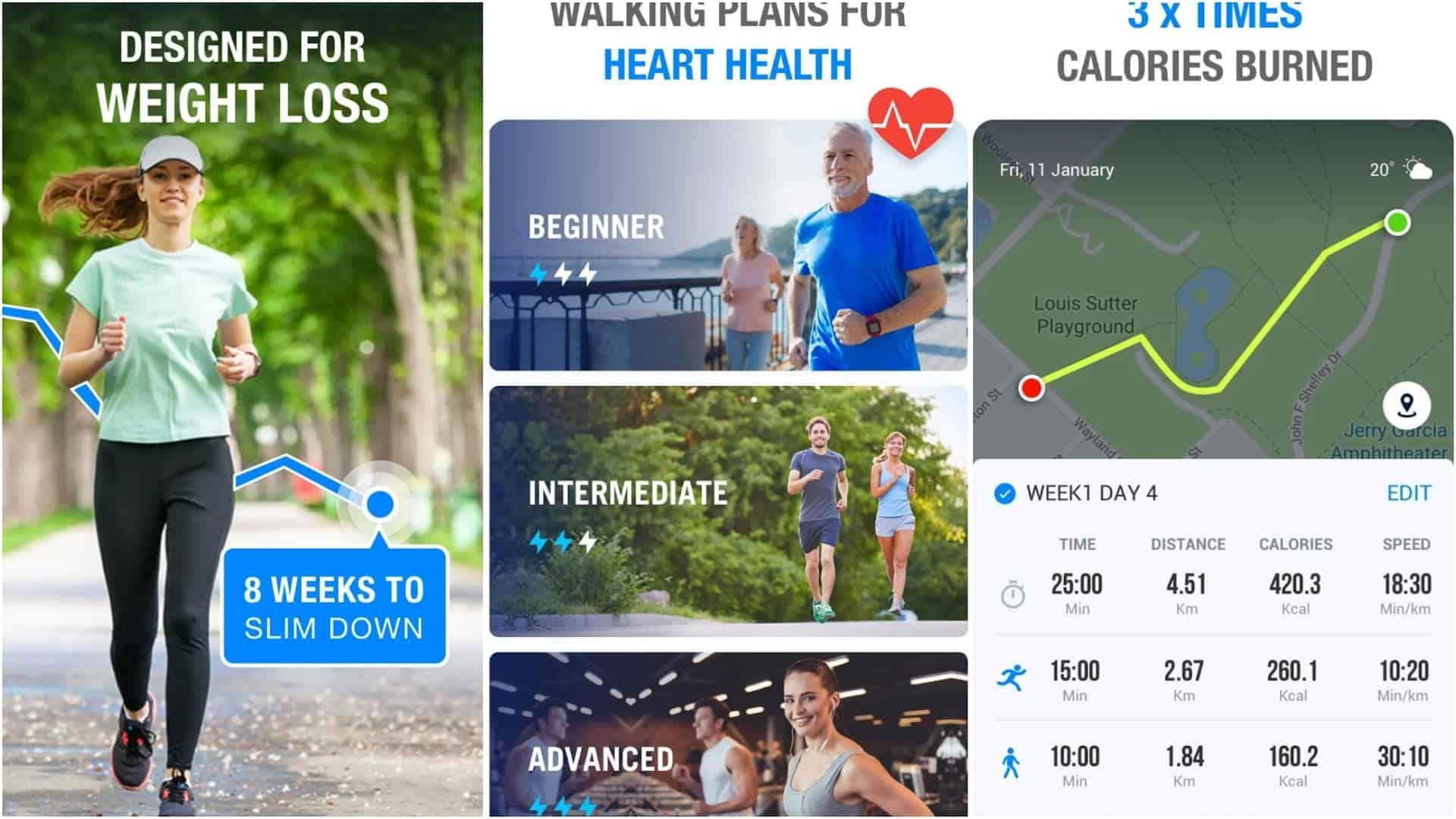 Walking App – Walking for Weight Loss app image April 2020