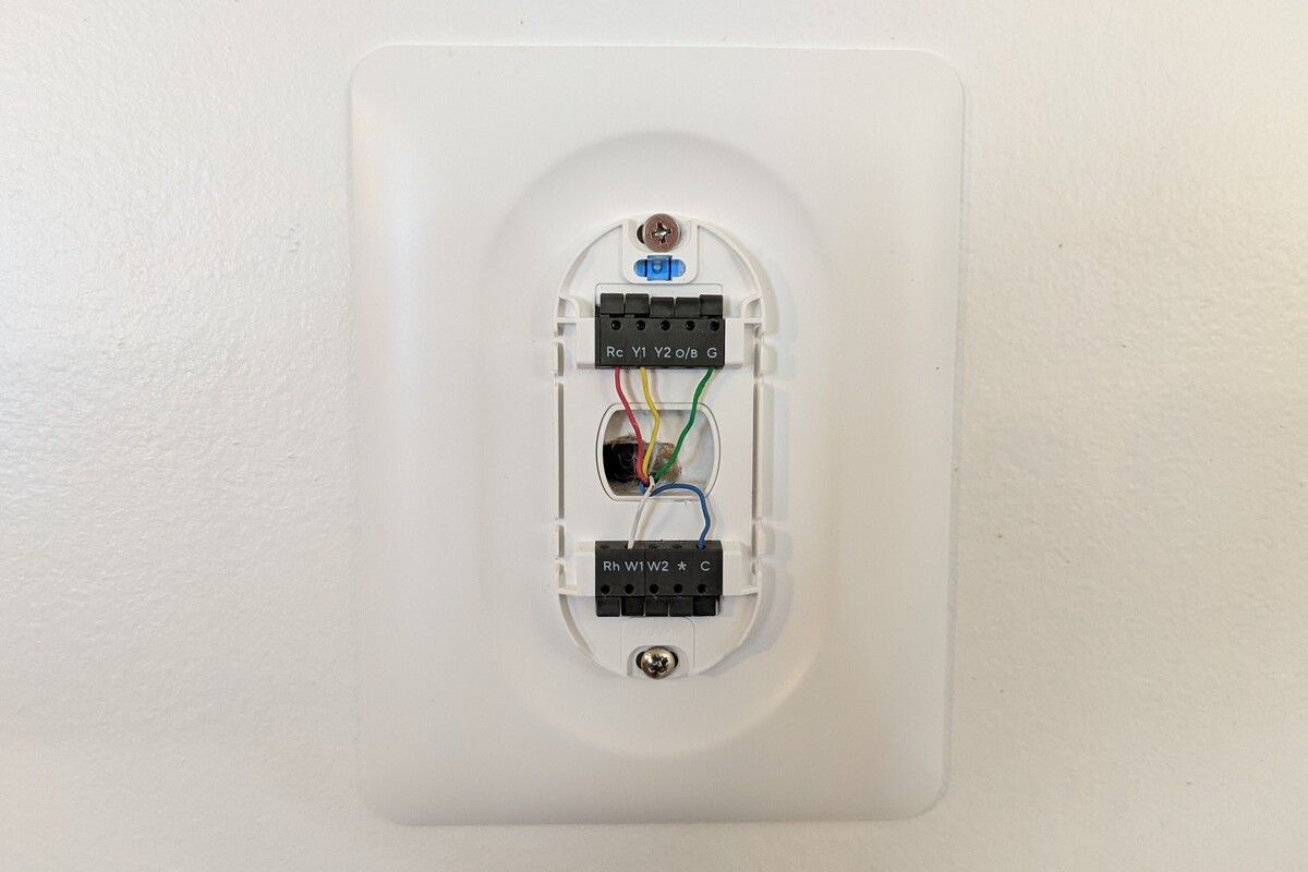 wyze smart thermostat connection panel