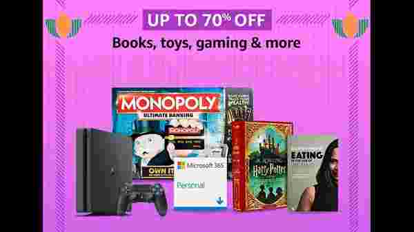 Up To 70% Off On Books, Toys, Gaming, And More