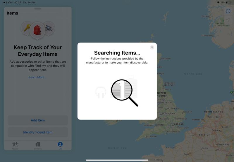 AirTags launch: Secret tab in Find My app