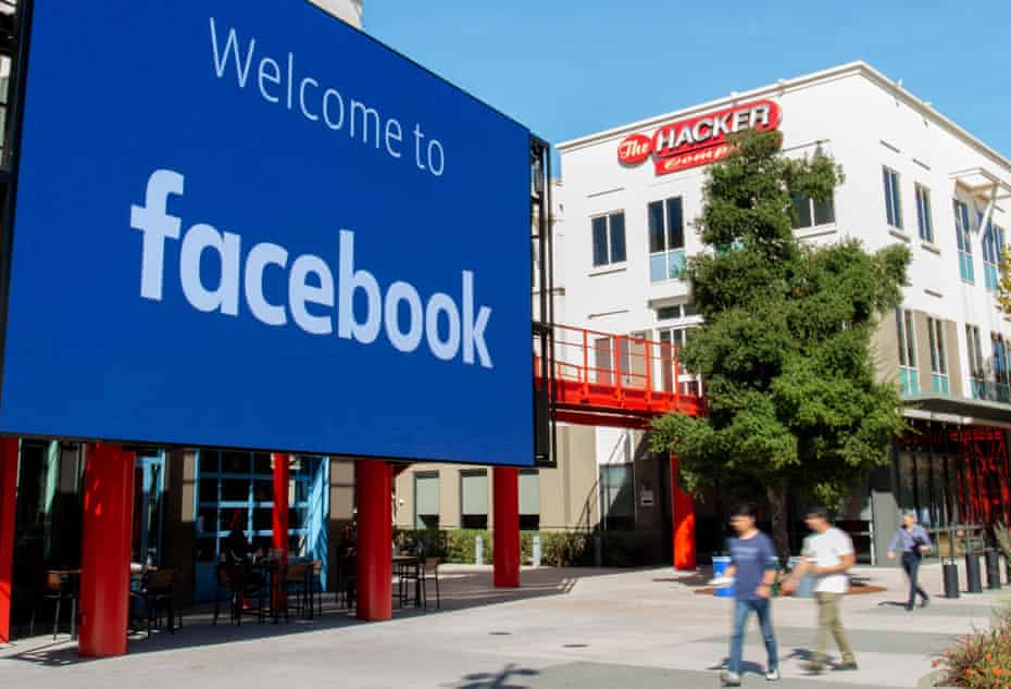 Facebook's campus in Menlo Park, California.