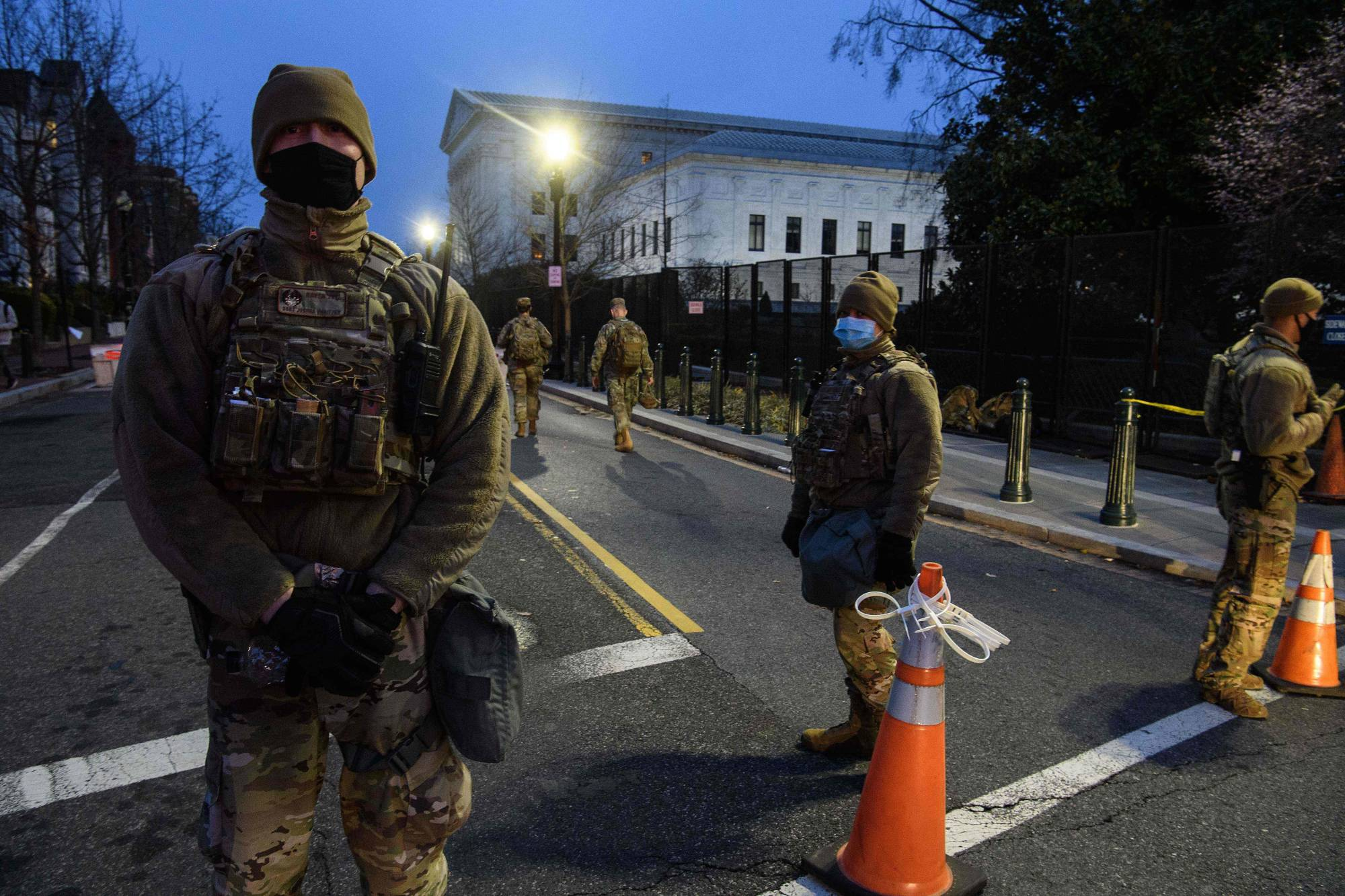 Members of the U.S. National Guard near the U.S. Capitol in Washington on Saturday | AFP-JIJI