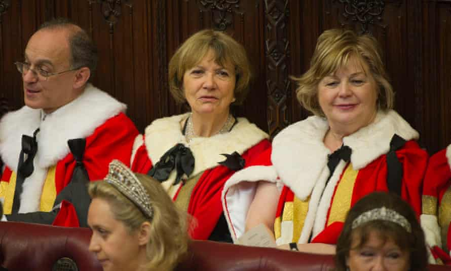 'I don't approve of Boris at all when he talks about fighting or defeating the virus': Baroness Bakewell attends the House of Lords during the State Opening of Parliament in 2012.