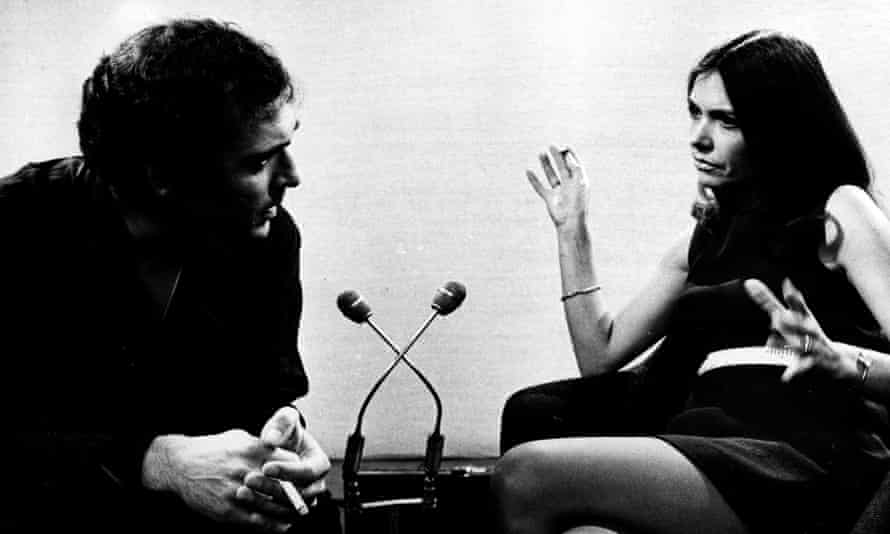 Difficult questions: Joan Bakewell interviews Harold Pinter on Late Night Line-Up.