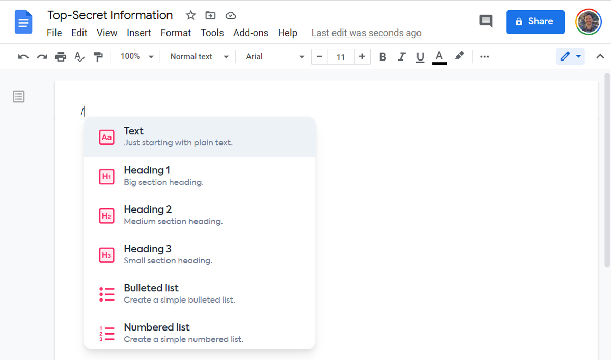 Google Docs Shortcuts (2)