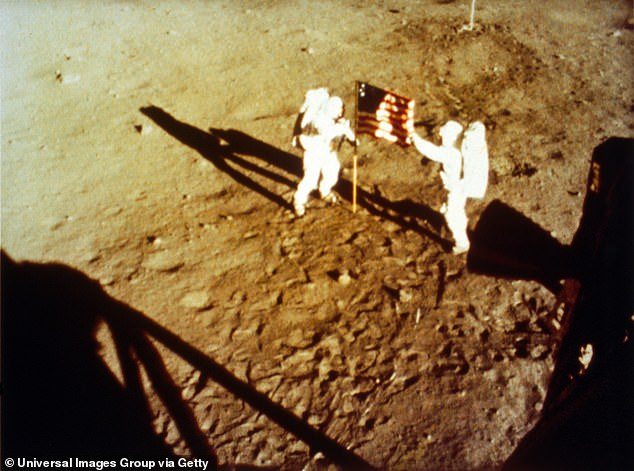 During the Apollo 17 mission, Cernan and Schmitt (pictured) spent 22 hours on the moon's surface in the Taurus-Littrow valley, while colleague Ronald Evans orbited overhead