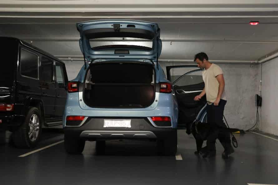 The boot of the MG ZS EV