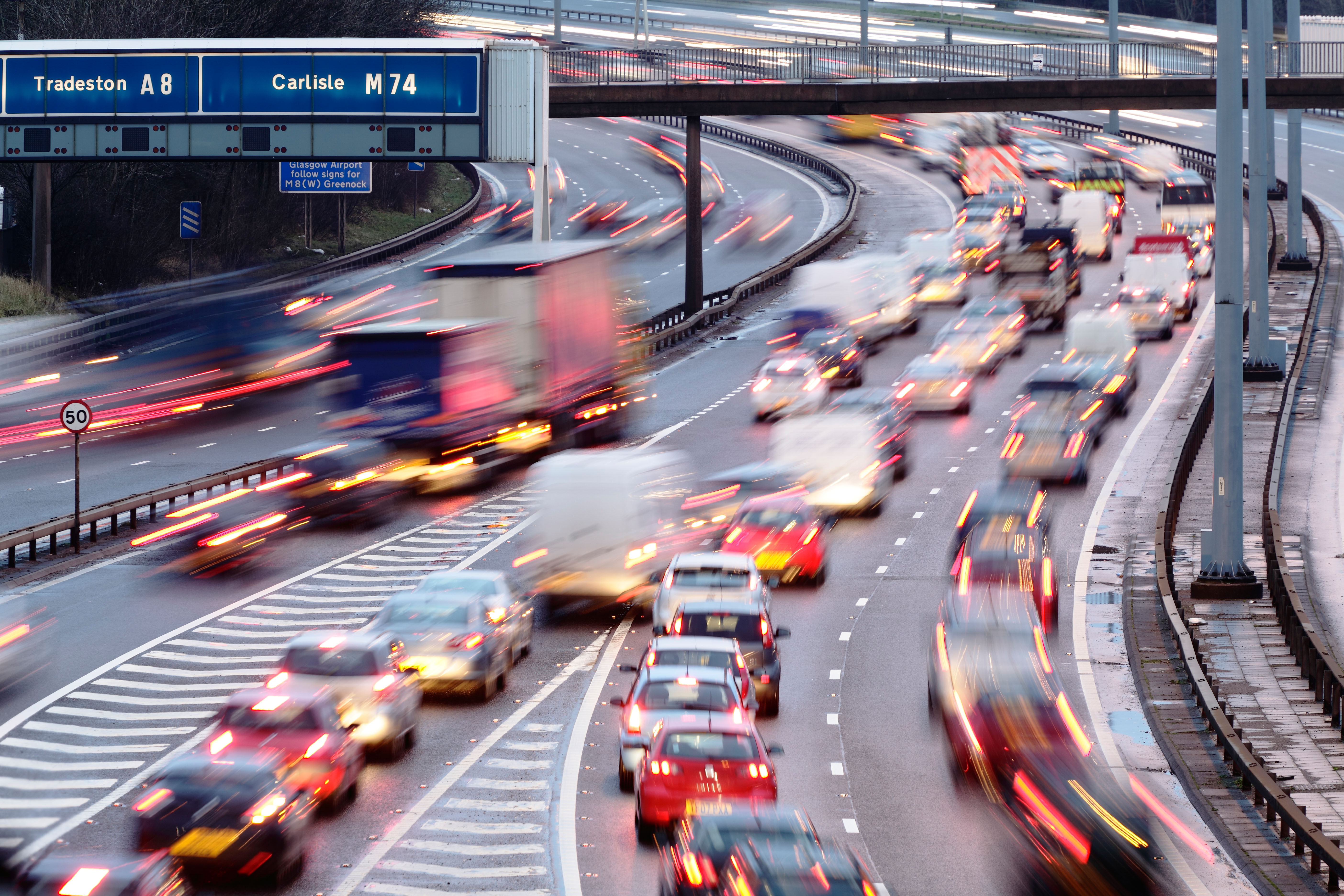 The technology would only be allowed in stop-start motorway traffic