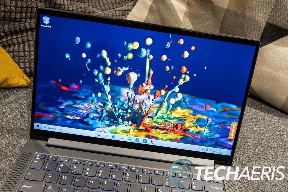 The display on the Lenovo IdeaPad Slim 7 14-inch laptop