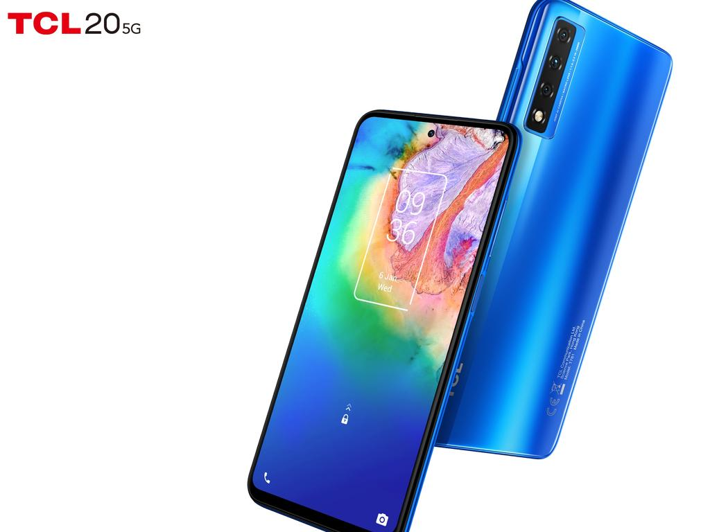 The TCL 20 5G smartphone will feature a 6.6-inch screen and three rear cameras when it's released in Australia in the first quarter of 2021.