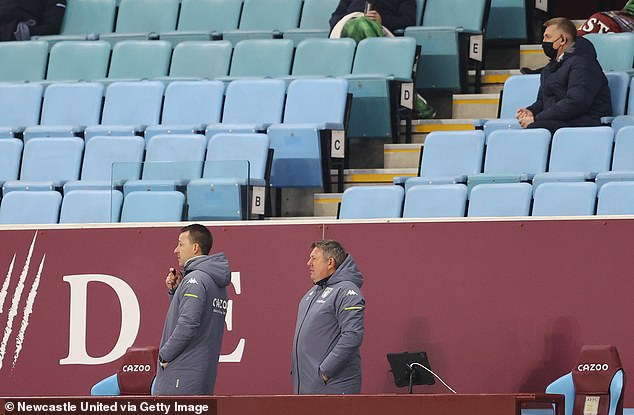 Aston Villa staff at Villa Park on January 23, 2021. Sporting stadiums around England remain under strict restrictions due to the coronavirus as government social distancing laws prohibit fans inside venues resulting in games being played behind closed doors
