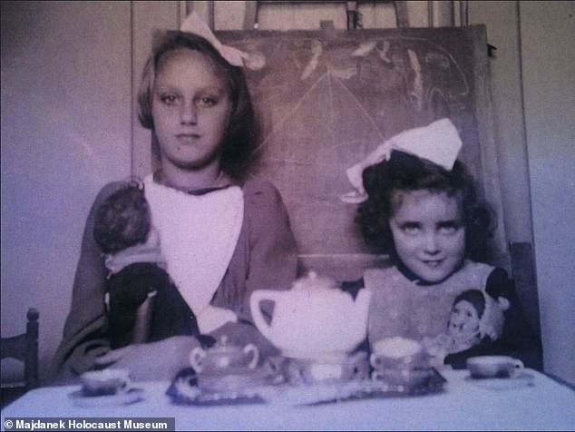 De La Penha (right) was only six years old when she died at the Nazi extermination camp.The children were known to have died at the camp due to entries in Nazi lists, but the tags offer new details that allowed researchers to link the IDs to faces, as the tags included name, age and hometown
