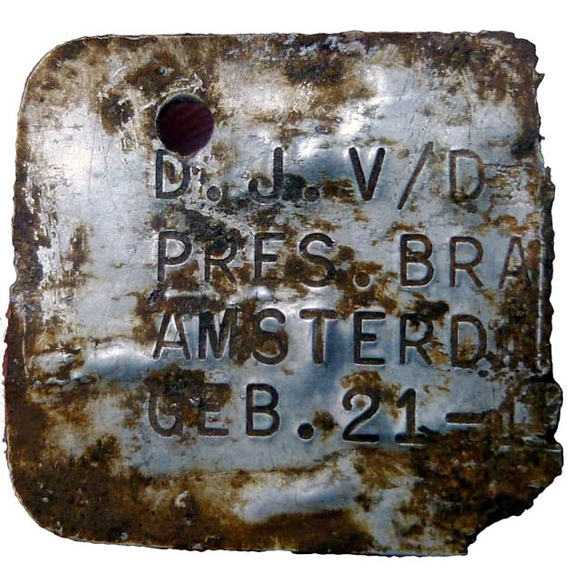 David Juda Van der Velde was also on that train and died in the gas chamber at the young age of 11 – his tag was found one of the chambers