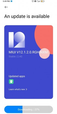 Android 11 update for Poco X2