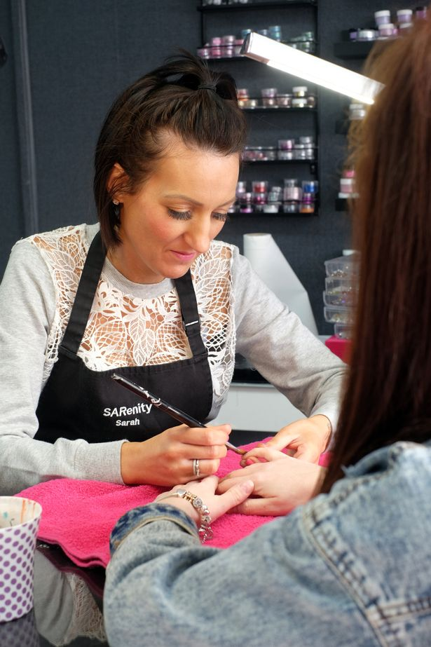 Sarah Clarke from SARenity salon on Prince Regent Street, Stockton who copied a baby scan photo on to a client's nails