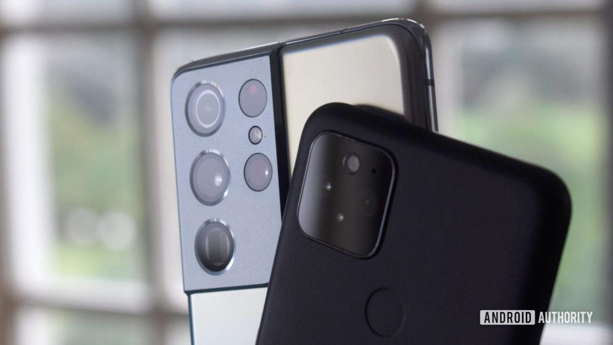 Galaxy S21 Ultra vs Pixel 5 camera bright