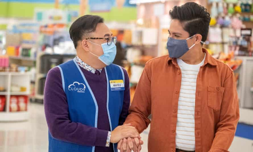 Off their trolleys … (l-r) Nico Santos as Mateo and George Salazar as Eric in Superstore.
