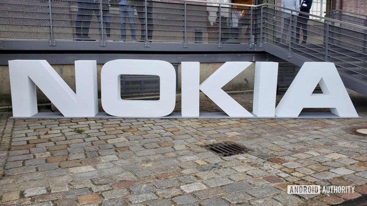 Nokia logo in white