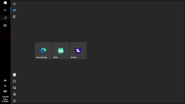 windows 10 in tablet mode