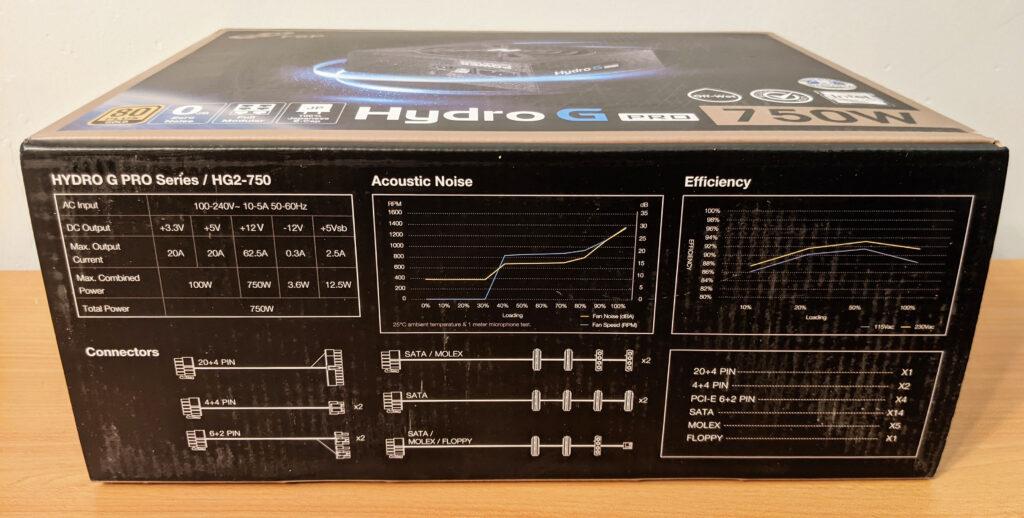 FSP Hydro G Pro 750W PSU Box Specs