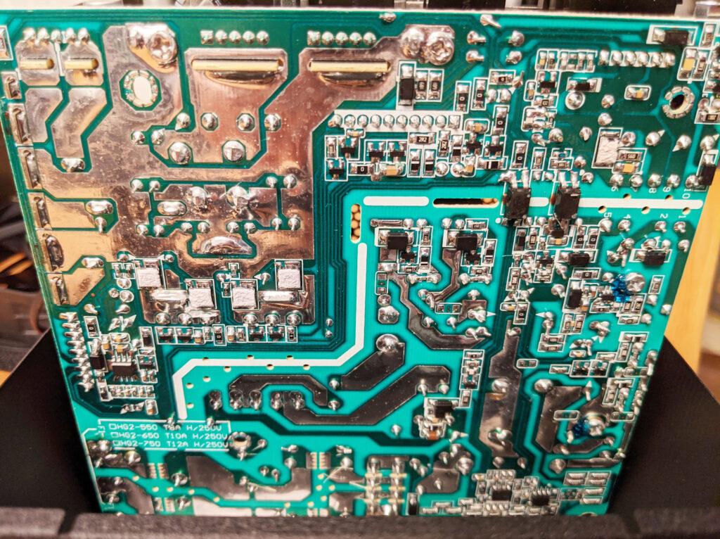 FSP Hydro G Pro 750W PSU Motherboard Bottom