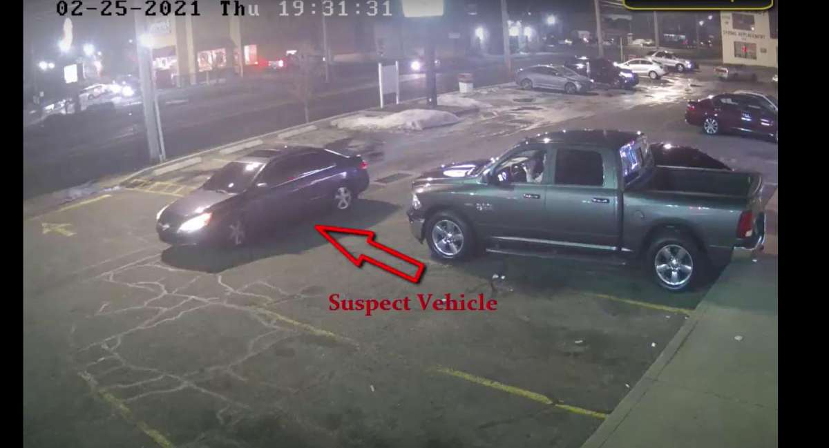 BRIDGEPORT - Police are asking for the public's help identifying this vehicle believed to have been involved in a shooting on North Avenue on Thursday, Feb. 25, 2021