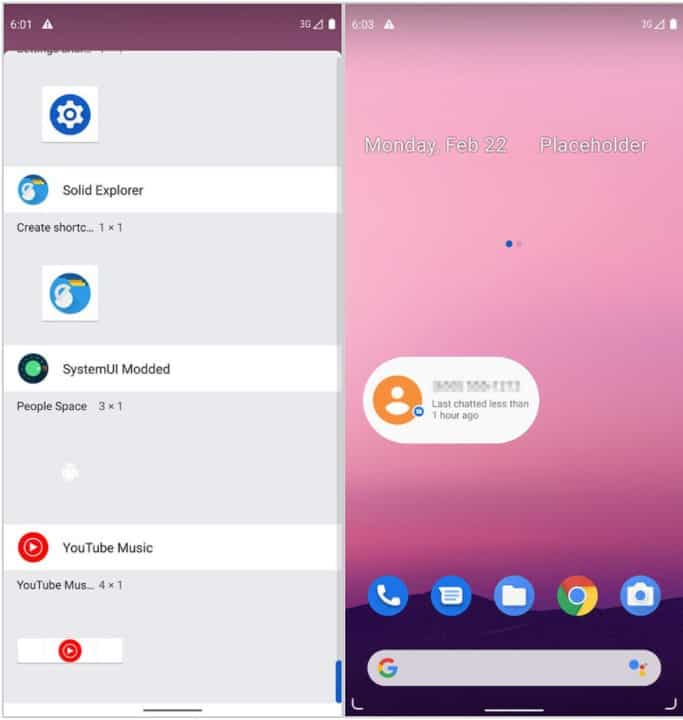 Android 12 Conversation Widget DP1