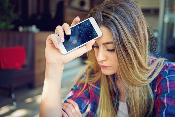 Young girl is devastated after her mobile phone is broken
