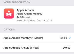 apple arcade pricing