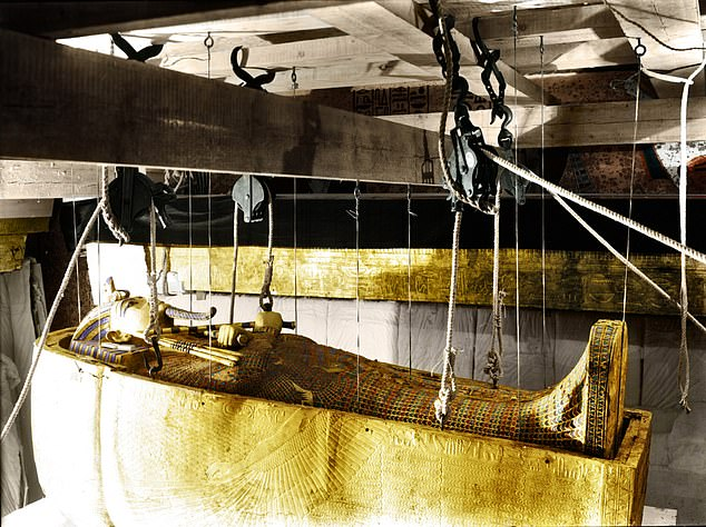 The Pharaoh's curse came about following the death of more than 20 people working to uncover the secrets of Tutankhamun's tomb in 1922 (pictured)