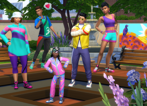 the sims 4  throwback fit kit