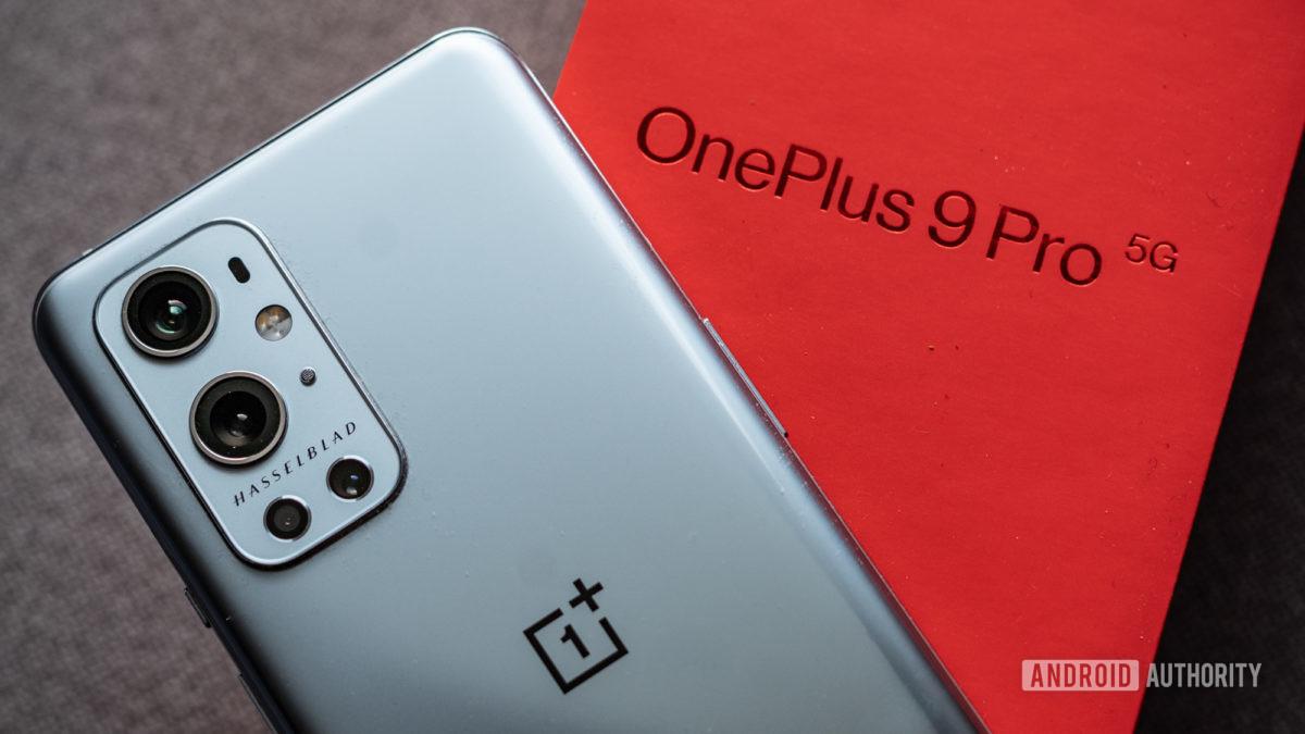 OnePlus 9 Pro close up of hassleblad