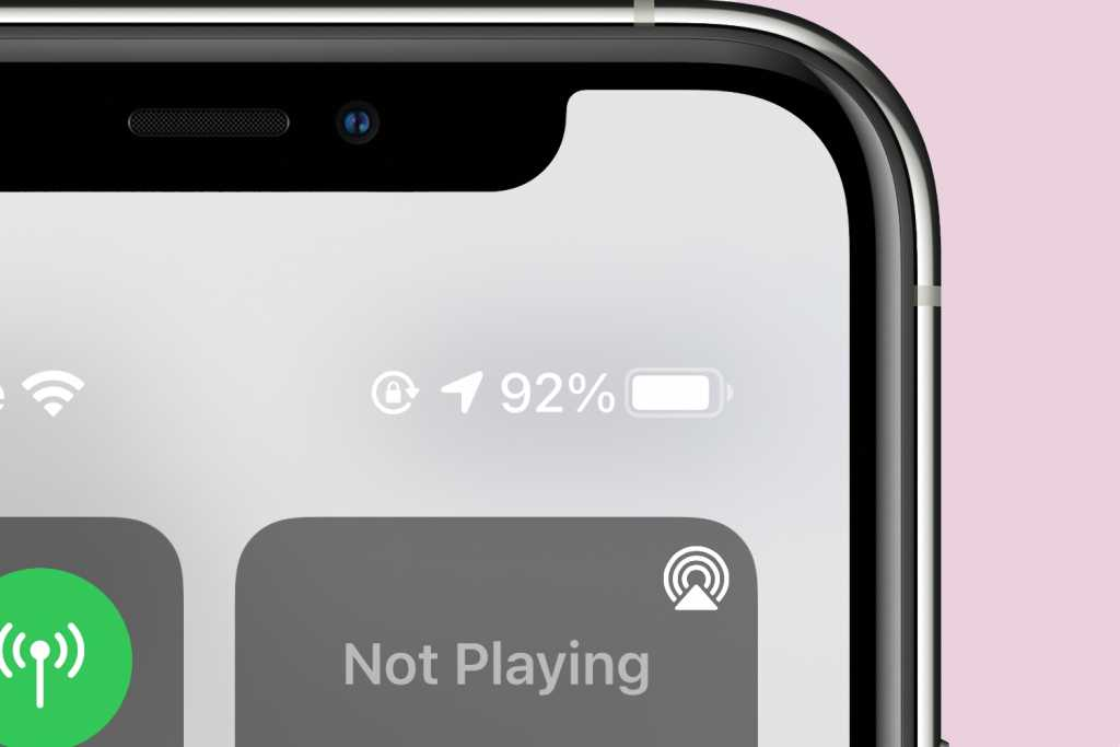 iPhone 11 Control Center battery life
