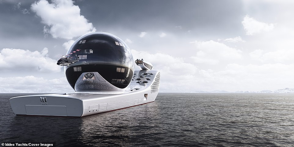 When launched it will act as an 'extreme technology platform for science, exploration and innovation at sea', according to Iddes, who say its 22 laboratories will be equipped with robotics and artificial intelligence systems