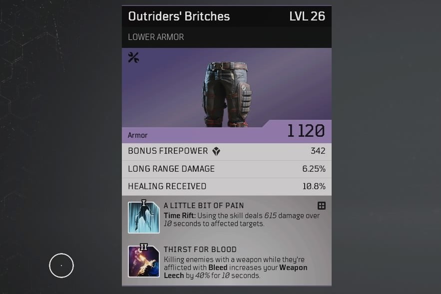 Outriders Crafting Guide - Outriders Britchers