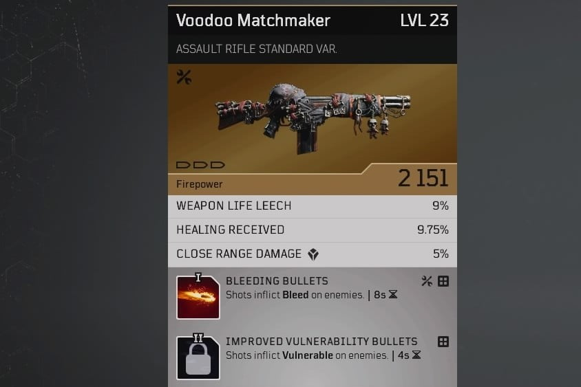 Outriders Crafting Guide - Voodoo Matchmaker